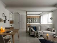76平的现代风小户型二居室,卧室粉橙色背景墙