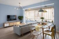 100㎡清新北歐風三居室設計,寧靜優美,色彩