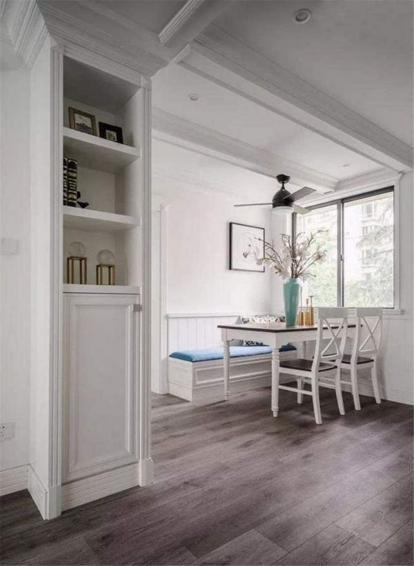 現代風格三居室,雅致的色彩與美式風情