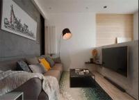 54平的工業風小戶型公寓,水泥墻帶來獨特質感