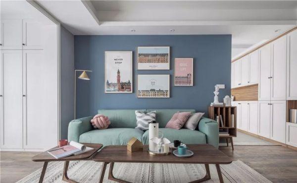 95㎡北欧风两居室,舒服温馨的生活氛围
