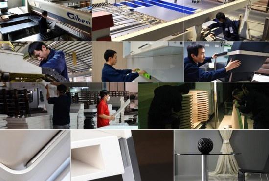 室内装修大部分工作在工厂、办公室提前完成