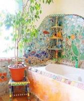 四款卫生间马赛克瓷砖铺贴设计