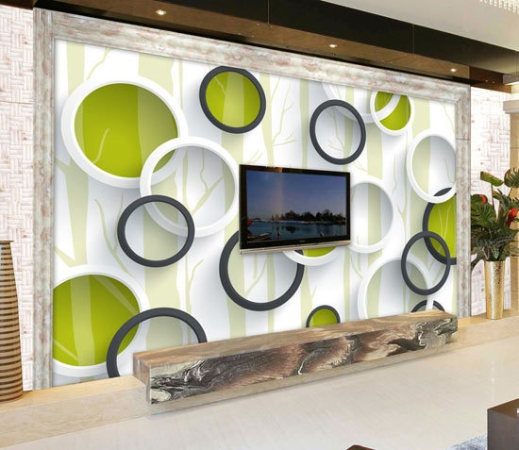 3d立体画:3d的立体设计仿佛一只海豚冲破墙面游进