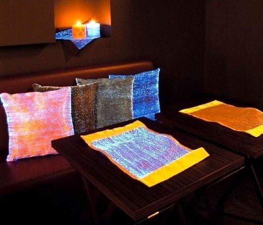 创意材料设计 夜晚会发光的光纤织物