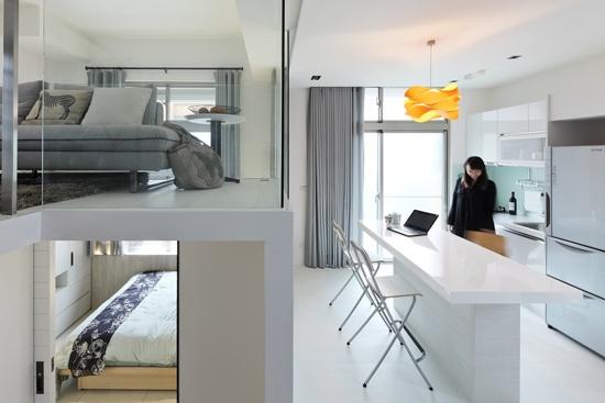 loft装修,loft案例,复式装修,小户型装修,小户型案例,阁楼设计