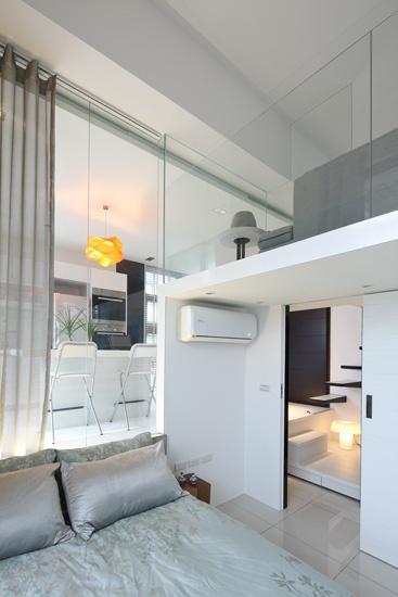 loft装修,loft案例,复式装修,小户型装修,小户型案例,卧室设计