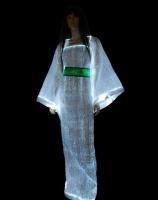 法国Lumigram公司设计了一种会发光的光纤织物