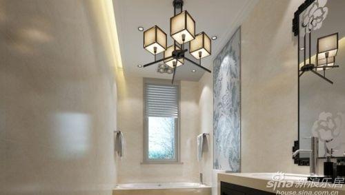 木条交叉制成四个灯罩,类似宫灯造型的灯罩也成了这空间中的亮眼装饰.