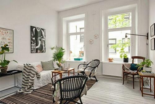 宜家风格简约公寓设计效果图