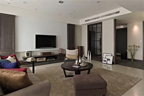 家居资讯 > 客厅玄关隔断效果图   三米三的挑高,降板造型呈现,辅以