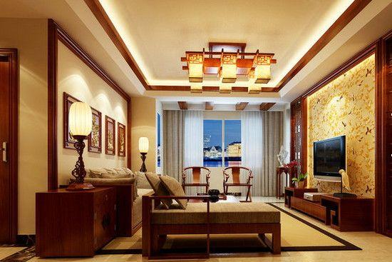 中式客厅装饰效果图_家居装修设计网