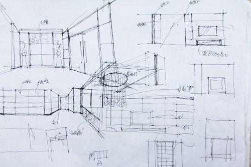装修设计图手稿