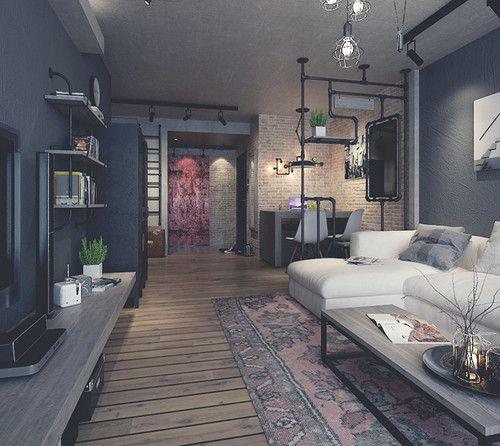 ?#22402;?#26684;调 北京工业风格个性公寓_家居装修设计网