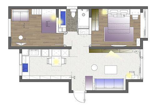 别墅室内结构图解彩平
