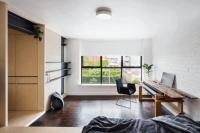 26㎡單身公寓玄關是廚房走道藏衣柜 還有寬敞客廳
