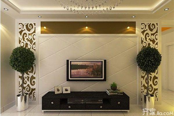 最新客厅电视背景墙效果图