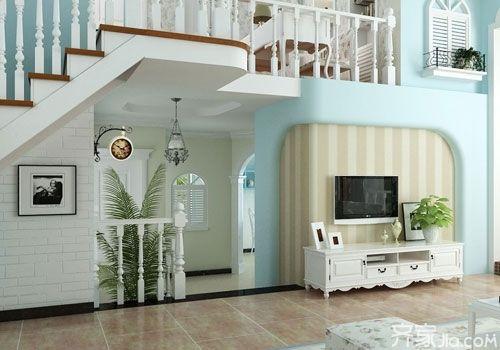 欧式风客厅电视背景墙欣赏