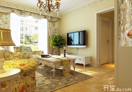 石膏线客厅电视背景墙效果图 先赏为快