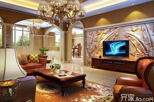 欧式浮雕电视背景墙效果图赏析
